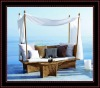 Outdoor furniture,wicker sun lounger bed