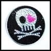 Skull design cosmetic mirror w/crystal
