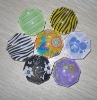 color polygon glass magnet buttton /glass buttons with magnet