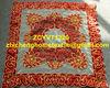 embroidery cutwork velvet beaded tablecloth