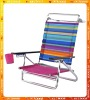Adjustable beach chair with magzine pouch