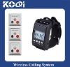 Functional Wireless Calling System(KQ-41C+KQ500-3M) with Watch Pager,Three Key Button Assignment