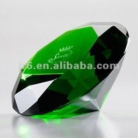 Green Crystal Diamond Table Decorations Weddings