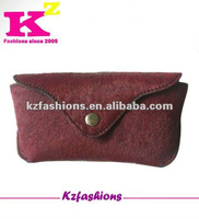 High quality wine horse leather eyeglass case kz30032