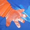 Degradable long plastic gloves