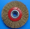 crimped wheel brush for cleaning and polishing