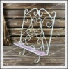 H41cm! Antique pink lovely cheap flower metal display wall hanging hooks/french home decor/home decoration accessories wholesale