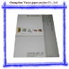 Saddle stitch book, staple binding book