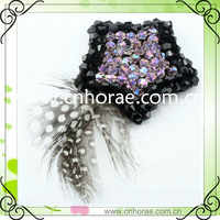 fashion feather shoe accessories for boot