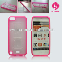 TPU PC hybrid combo case with stand for touch5 phone case