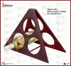 triangle 3 bottles fuax leather wine rack