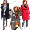New Korea Style Women's Coat Wool wide lapels Winter Thick Hood Coat Jacket Outerwear