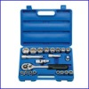 22-Piece 1/2-inch Standard and Metric Socket Set With Blow Case