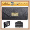Black Fashion PU Wallets With Lock