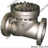full swing check valve with lock