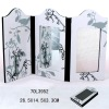 bird folding screen mirror