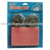 Scourers with scouring pads
