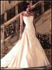 A-line sweetheart neckline luxurious satin wedding dress KKW-003