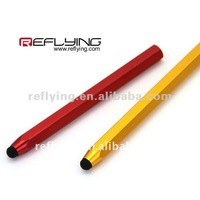 Metallic oil covered capacitive stylus for all touch screen