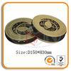 Round CD Tin Holder with Zipper