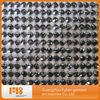 Black diamond rhinestone mesh