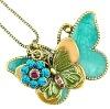 pretty butterfly necklace enamel necklace jewelry