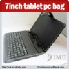 7 inch tablet pc keyboard bag,leather keyboard bag