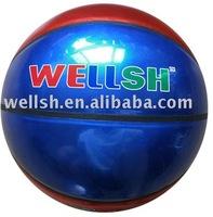 size 7 laminated metallic shine PVC basketball
