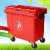 Large Volume Plastic Recycling Containers with Wheels