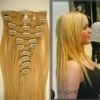 top quality high temprature clip-in synthetic hair extension