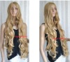 "35"" Long Golden Blonde Spiral Wavy Cosplay Blonde Hair Weave"