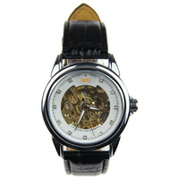 men skeleton mechanical watches
