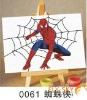 SpiderMan--(10*15cm)cartoon flax canvas digital oil paintings for kids' art