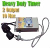 Industrial Heavy Duty Timer 2 Outputs 10A Max for Hydroponics Lighting Ballast Fan