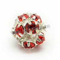 Factory directly sell 14mm rhinestone beads for jewelry making