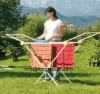 Hot fold clothes airer