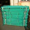 Metal scaffolding props to support platform in construction