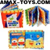 BTL-120105-4 kids cloth books Four seasons cartoon cloth book