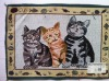 cats jacquard place mat cotton and polyester