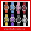 Wholesale Classic Gel Crystal Men Lady geneva silicone jelly watch