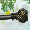 Polyresin finial with Extensible Shower Curtain Poles