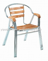 double tube garden wooden chair YC052