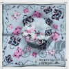 "23"" New fashion big square design bandanas 100% silk scarf"