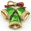 Design fashion alloy crystal gifts jewelry Jingle Bell brooch