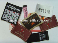Fashion woven labels tags for garments