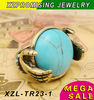 turquoise gemstone ring manmade exquisite design