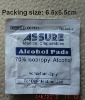 single packed alcohol pad