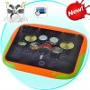 Portable Digital Touch Drum - 8 Touch-sensitive Drum Pads, Easy, Fun and Educational