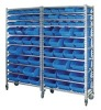 industrial plastic storage bin rack