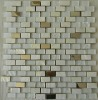 Fusion pearl glass crystal white tile mosaic